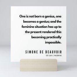 34       Simone De Beauvoir Quotes   190605 Mini Art Print