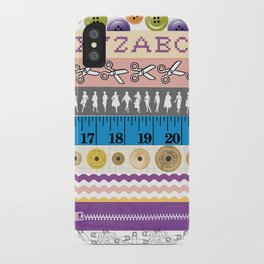Washi Tape (Sewing) iPhone Case