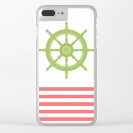 AFE Nautical Wheel 2019 Clear iPhone Case
