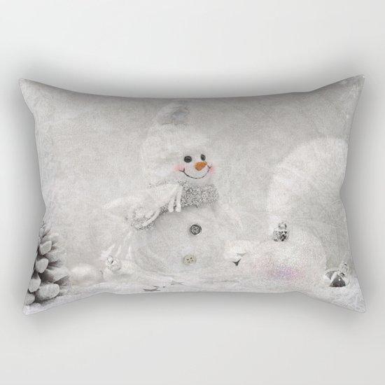 Cute snowman winter season Rectangular Pillow