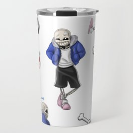 Sans doodles Travel Mug