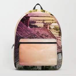 Down a quiet road in Gold Hill, Shaftesbury Backpack