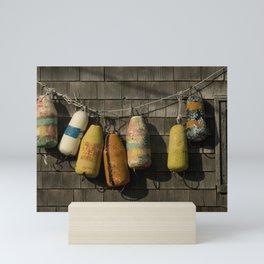 Colourful floats, Peggys Cove Mini Art Print