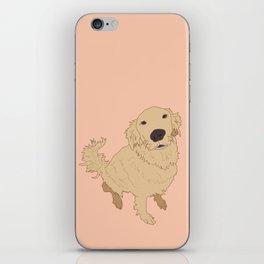 Golden Retriever Love Dog Illustrated Print iPhone Skin