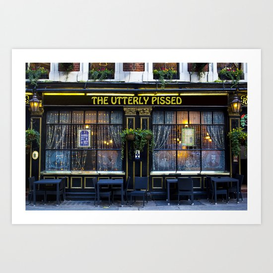 The Utterly Pissed Pub Art Print