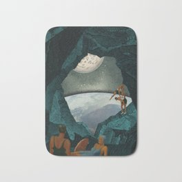 Space Spelunking Bath Mat