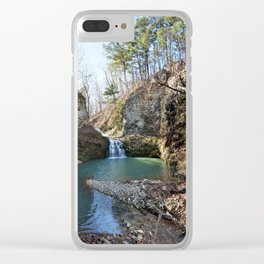 Alone in Secret Hollow with the Caves, Cascades, and Critters - Approaching the Falls Clear iPhone Case