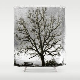 L'arbre de Gourdon Shower Curtain