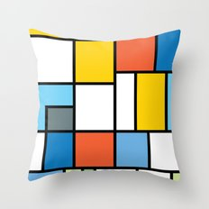 The Colors of / Mondrian Series - Simpsons Throw Pillow