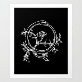 White Ouroborous  Art Print