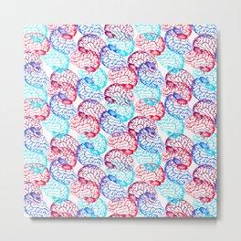 Brain Colors Metal Print