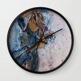 rock and roll goddess Wall Clock