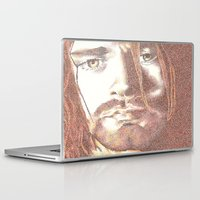 kurt vonnegut Laptop & iPad Skins featuring Kurt by Nightrav3n