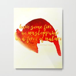 Grey's Anatomy /// Have Some Fire /// Cristina Yang /// Greys Anatomy Metal Print