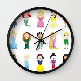 Pixel Princesses Wall Clock