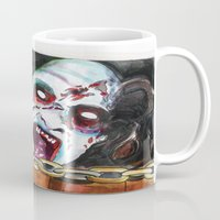 evil dead Mugs featuring The Evil Dead  by Christopher Chouinard