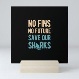 Save Sharks Awareness Mini Art Print