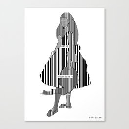 Whistler in Barcode, Harmony in Grey and Green Canvas Print