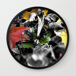colors in contrast Wall Clock