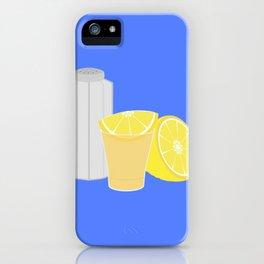Salt, lemon and tequila iPhone Case