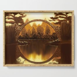 Golden Bridge Serving Tray