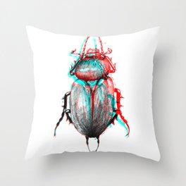 rgb beetle Throw Pillow