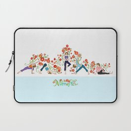 Yoga Girls_Growing With Poses_Robin Pickens Laptop Sleeve