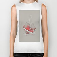 sneakers Biker Tanks featuring red sneakers by ivaDima