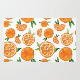 Zesty Orange Pattern Rug