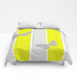Mustard and Grey Stripes Comforters