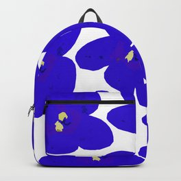 Blue Retro Flowers #decor #society6 #buyart Backpack