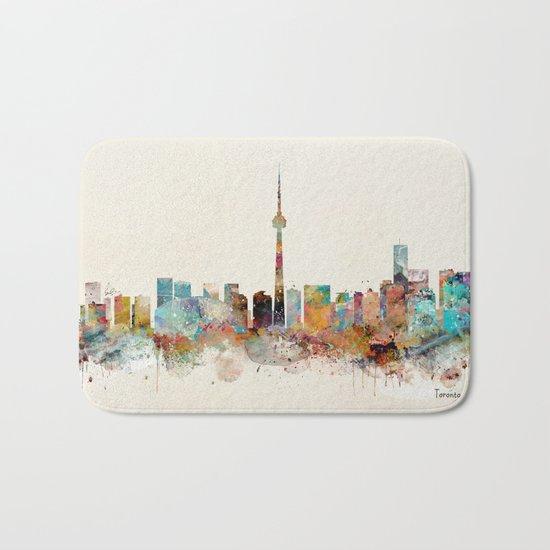 Toronto Ontario skyline Bath Mat