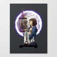 bioshock infinite Canvas Prints featuring Bioshock Infinite: Freedom  by Daydreams and Giggles Studios