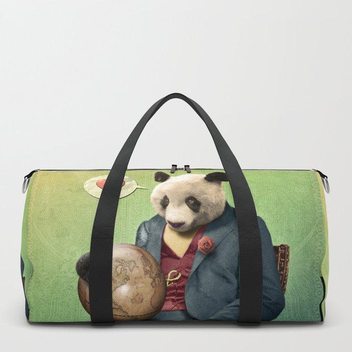 Wise Panda: Love Makes the World Go Around! Duffle Bag