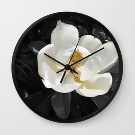 Steel Magnolias - Sweet scented white Magnolia flower Wall Clock