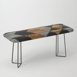 Urban Tribal Pattern No.10 - Aztec - Concrete and Wood Bench