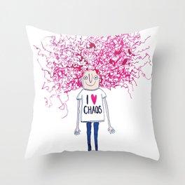 I love Chaos Throw Pillow