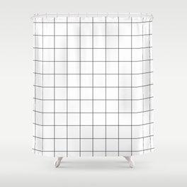White Grid  /// www.pencilmeinstationery.com Shower Curtain