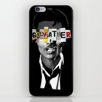 godfather iPhone & iPod Skins featuring Godfather Mix 1 black by Marko Köppe
