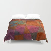 baroque Duvet Covers featuring Baroque Cubism by Tony Vazquez