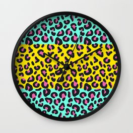 Abstract Leopard Pattern Wall Clock