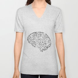 Brain with dots Unisex V-Neck