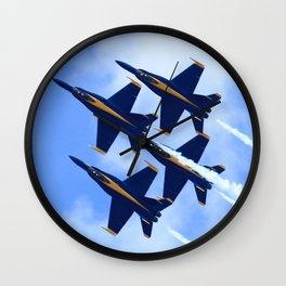 Blue Angels #s 1 2 3 4 Wall Clock