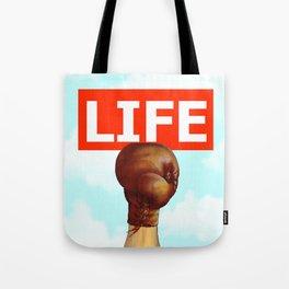 kick life back Tote Bag