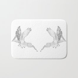 Combinations #7 - Antelope / Owl (FINAL) Bath Mat