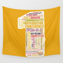 Life Path 1 (color background) Wall Tapestry