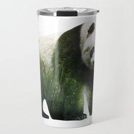 Panda   Bamboo Double Exposure Travel Mug