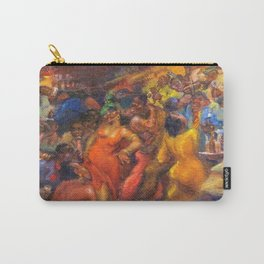 African American Masterpiece 'Jazz Club' by Jane Gibbs Carry-All Pouch