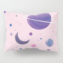 Pink Space Pillow Sham