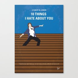 No850 My 10 Things I Hate About You minimal movie poster Canvas Print